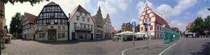 Panorama Osterstrasse, Bad Salzuflen, am Tag